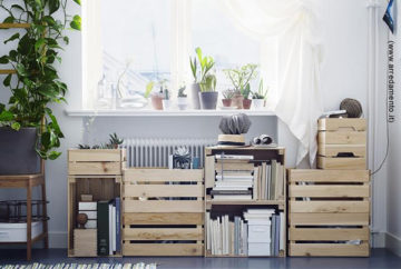 Riciclo creativo:  costruire una libreria fai da te