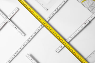 Strumenti di misurazione: flessometro, doppiometro  e misuratore laser